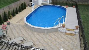 Semi Inground Pools Long island 15×30 Sharkline Semi Inground Pool with Deck and Pavers Brothers 3