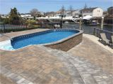 Semi Inground Pools Long island Radiant Semi Inground Oval On the Waterfront Affordable Pool