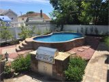 Semi Inground Pools Long island Radiant Semi Inground with Pavers and Radiant Inside Step Pool