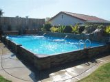Semi Inground Pools Long island This Exlusive islander Pool is 14 X 28 with A Rock Waterfall and 2