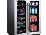 Shallow Depth Undercounter Beverage Fridge 24 Inch Wine Beverage Cooler Beverage Coolers Kitchen