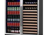 Shallow Depth Undercounter Wine Refrigerator Amazon Com Kingsbottle 2 Zone Large Wine Beverage Fridge 397