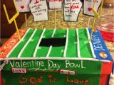 Shoe Box Valentine Holder Boys Valentines Day Box Mailbox Football with Bible Verses His