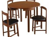Simple Living 5 Piece tobey Compact Round Dining Set top Table Kayu Kitchen Set with Simple Living 5 Piece