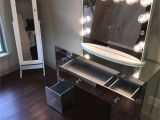 Slay Station Table top Vanity From Impressions Vanity the Vanity is Called Abby Premium