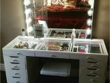 Slaystation Table top Impressions Vanity with Ikea Alex Drawers Makeup Vanity Desk