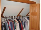 Sloped Ceiling Closet Rod Bracket Incredible Closet Rod Bracket Angled Ceiling Ideas
