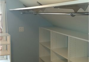 Sloped Ceiling Closet Rod Support Angled Brackets Used to Maximize Space In attic Closet Closet