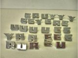 Small Metal Letters for Crafts Vintage Lot 28 Chrome Metal Letters Crafts Altered Artmix
