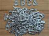Small Metal Letters for Crafts Vintage Metal Letters Small Florist Alphabet for Crafting