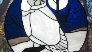 Snowy Owl Stained Glass Patterns Stained Glass Snowy Owl Suncatcher Explore