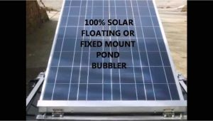 Solar Aerator Floating solar Pond Bubbler Floatovoltaic solar Powered Water Aerators Stop Fish Kills
