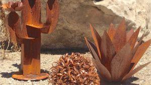Southwestern Metal Yard Art southwestern Set Metal Yard Art Garden Art Metal Cactus