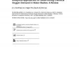 Spectrum Labs Quick Fix Plus Reviews Pdf Analytical Approaches for Determining Chemical Oxygen Demand In