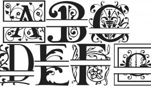 Split Letter Monogram Free Font 6 Free Split Monogram Fonts Images Regal Split Letter