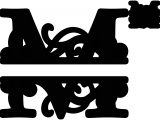 Split Letter Monogram Free Svg M Split Monogram Sds M Split Monogram 0 99