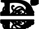 Split Letter Monogram Free Svg Quot D Quot Split Monogram Flockfolie Letters Pinterest