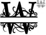 Split Letter Monogram Free Svg Svg attic Blog Shadow Box for A Wedding