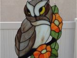 Stained Glass Owl Suncatcher Patterns 144 Best Stained Glass Owls Eagles Images On Pinterest