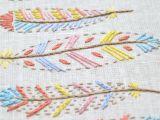 Swedish Beauty Love Boho Hand Embroidery Pattern for Beginners Pdf Pattern Diy Feather Art