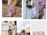 Swedish Beauty Love Boho Purple Love Birds Floral Print Mini Chic Dress V Neck Short Sleeve