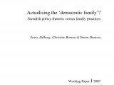 Swedish Employee Self Service Pdf Actualizing the Democratic Family Swedish Policy Rhetoric