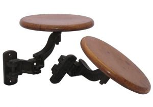 Swing Out Stool Hardware Industrial Stools Tables at 1stdibs