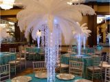 Table Centerpiece Ideas for Quinceaneras 12 Pcs 24 26 White Ostrich Plume Feathers Flowers and