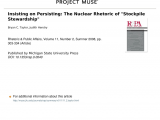 Taylor at Home Storage solutions 101 Pdf Insisting On Persisting the Nuclear Rhetoric Of Stockpile