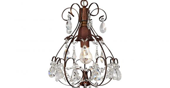 Teardrop Crystals Chandelier Parts Brushed Oak 1 Light Teardrop Crystal Chandelier Amazon Com