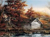Terry Redlin Art Prices Limited Edition Print Autumn Shoreline by Terry Redlin