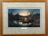 Terry Redlin Art Prints for Sale Morning solitude Terry Redlin Camping Encore Framed Print