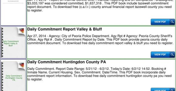 The Daily Commitment Report Peoria Il Daily Commitment Chicago Ebook