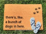 There S Like A Bunch Of Dogs In Here Doormat there 39 S Like A Bunch Of Dogs In Here Urban Doormat