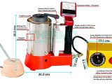 Thermo Pride Oil Furnace Parts thermo Tico Hm 1kg Handy Metal Melting Furnace 1kg Gold Capacity