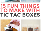 Tic Tac toe toilet Roll Holder 15 Things to Make with Tic Tac Containers New Home Ideas
