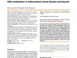 Tn Mint Mattress Reviews Pdf Dna Methylation In Inflammatory Bowel Disease and Beyond