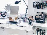 Tocadores Maquillaje Modernos Meine Neue Schminkecke Inklusive Praktischer Kosmetikaufbewahrung