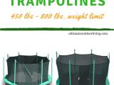 Trampoline with 350 Lb Weight Limit Heavy Duty Trampolines 450 Lb Weight Limit and 500 600