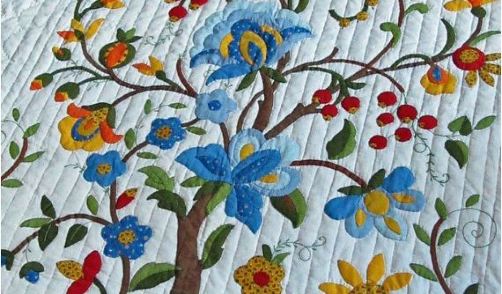 Tree of life quilt pattern applique vintage quilt tree of life