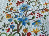 Tree Of Life Quilt Pattern Applique Vintage Quilt Tree Of Life Pattern Amish Made by