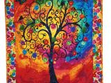 Tree Of Life Wall Hanging Quilt Pattern Quilted Wall Hanging Bright Tree Of Life by Sieberdesigns