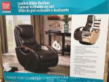True Innovations Leather Glider Recliner True Innovations Leather Swivel Glider Recliner Chair