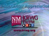 Tv Guide Las Cruces July is Underwriter Appreciation Month Krwg