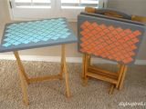 Tv Tray Set Ikea Tv Tray Table Upcycle Diy Inspired