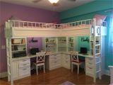 Twin Size Loft Bed with Desk Underneath Plans Custom Made Dual Loft Beds with Desks Life Hacks Bedroom Room