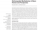 Types Of Batteries Electrochemistry Pdf An Ultrafast Rechargeable Aluminium Ion Battery