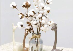 Types Of Filler Flowers Naturally Dried Cotton Stems Farmhouse Artificial Flower Filler