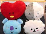 Types Of Pillow Stuffing Bts Bt21a A A Stuffed Plush toy Pillow Doll Cushion Tata Shooky Rj