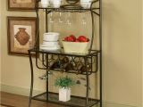 Under Cabinet Wine Glass Holder Ikea Traditional Interior Ideas with Cappuccino Finish Metal Bakers Rack